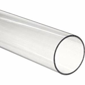 96 Polycarbonate Round Tube clear 4 3 4 Id X 5 Od X 1 8 Wall nominal