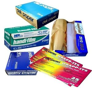 Handi film Plastic Wrap Foil Waxed Paper Sheets Kitchen Starter Bundle Kit