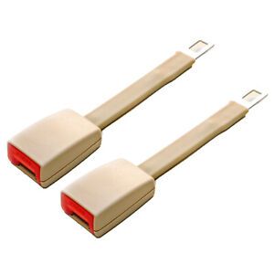 2 Pack 8 Rigid Seat Belt Extender Beige Type A Includes Overnight Shipping