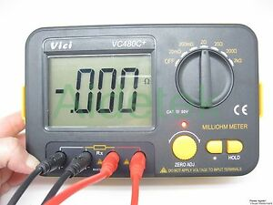New Precision Milliohm Meters Vs Megger 4 Wire Kelvin Clip 0 Adjust La Lcd Ohm