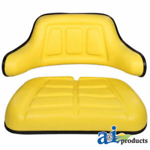 2 Piece Yellow Seat Cushion Set John Deere jd 1020 1530 2030 2040 2640 F935 fa