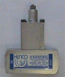 3 4 Kenco Engineering Fire Safe Valve 75 fs