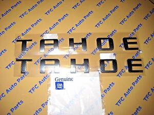 Chevy Chevrolet Tahoe Door Or Tail Gate Emblems Crome Set Of 2 Genuine Gm