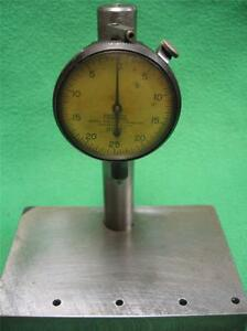 Federal Precision Drop Stick Inspection Height Gage Gauge Stand Machined Steel