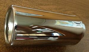 Lot Of 2 Chrome Exhaust Tips Double Wall Inside Roll 3 X 7 S O 2