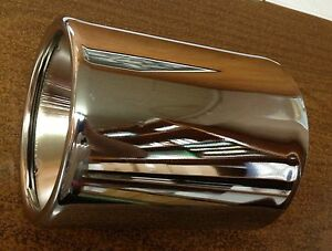 Lot Of 2 Chrome Exhaust Tips Double Wall Inside Roll 5 X 7 S o 2 1 2
