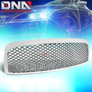 For 09 12 Dodge Ram 1500 Chrome Sport Mesh Front Hood Bumper Grill Grille Guard