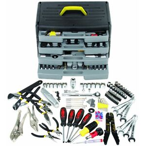 105 Pc Mechanics Tool Kit Set Sockets Screwdrivers Pliers Wrenches