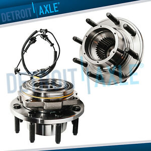 2 Front Wheel Bearing And Hub For 2005 2006 2007 2008 2009 2010 F 250 F 350 4x4