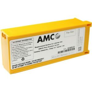 Amco Replacement Battery For Physio Control Lifepak 500 Aed new In Box