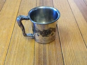 Mid Century Mfd Silver Plate Reed Barton Baby Cup 1942 On Bottom