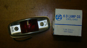 Kd Lamp Company 541 1605 Red Light Assembly Nos Sealed Unopened