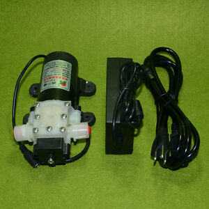 Dc12v 45w Diaphragm Water Pump Automatic Switch With The Power Adapter Us Plug