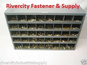Grade 8 Hardware Bolt Nut Washer Lockwasher Assortment Kit 1496 Pcs Usa Bin