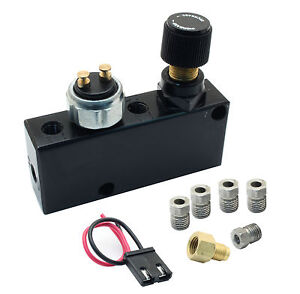 Adjustable Proportioning Valve Builtin Distribution Block With Brake Fittings