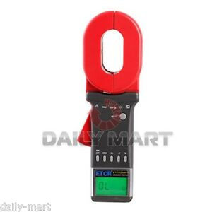 Etcr2000 Clamp On Digital Earth Ground Resistance Tester Meter Rs232