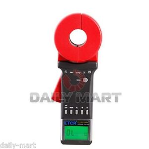 Etcr2100 Digital Clamp On Ground Earth Resistance Tester Meter