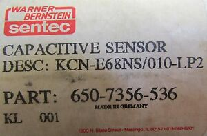 Warner Bernstein Sentec Capacitive Sensor 650 7356 536