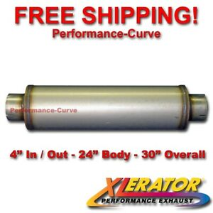 Xlerator 4 Stainless Steel Performance Hi flow Diesel Muffler 24 Body Xs2772
