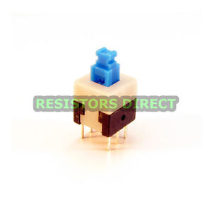 20x Dpdt 8x8mm 0 5a 50v Push Button Latching Tactile Switch On off 20pcs C38