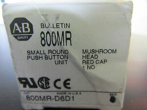 Allen Bradley 800mr d6d1 Small Round Push Button Unit Mushroom Head Red Cap