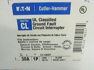 Eaton Cutler Hammer C130gf Ul Classified Ground Circuit Interrupter 30 Amp 1pole