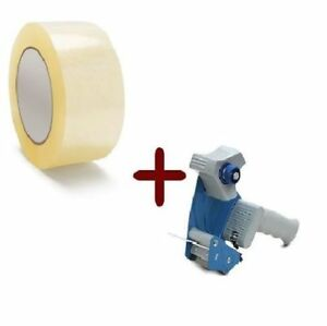2 Mil Clear Hotmelt Packing Tape 2 x110 12 Rolls W dispenser Heavy Duty New