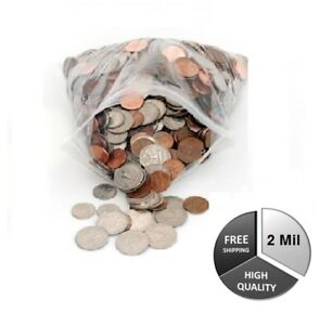 Tiny Reusable Zipper Bags Clear 2 Mil 2 X 5 For Jewelry Polybag 40000 Pieces