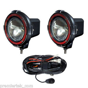 Pair 4 Inches 4x4 Off Road 6000k 55w Xenon Hid Fog Lamp Light Spot 2pcs Relay