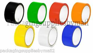 Colored Carton Sealing Packing Tape 2 X110 Yds 2 Mil Choose Your Colors