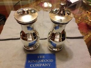 Tiffany Co Large Sterling Silver Salt And Pepper Mill Shaker