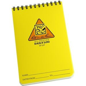 Rite In The Rain 157 All weather Daily Log Notebook 4 X 6