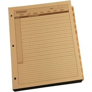 Rite In The Rain 9260d mx All weather Daily Calendar Pages Tan 8 5 X 11