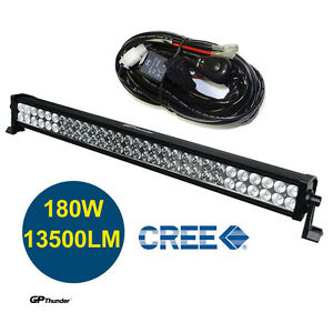 33 Inch 6000k Off Road 180w Cree Led Fog Lamp Work Light Bar For Jeep 4x4 Relay