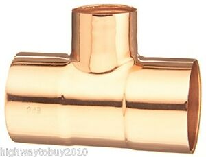 20 Ea Elkhart Products 32824 1 X 1 X 3 4 Copper Tee Plumbing Fittings