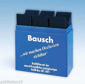 Dental Bausch Articulating Papers double Sided 200 Microns blue Box 300pcs