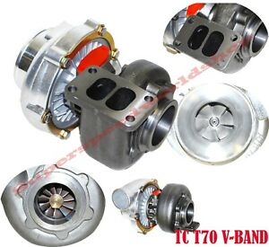 T70 Turbocharger Turbo Charger Exhaust T3 V Band 500 Hp Supra Rx7 Rx8