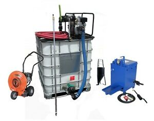 Sealcoating Business Starter Package Tote Spray System 10 Gal Melter Blower