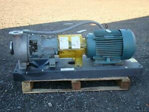 Flowserve 33336 Sealmatic Pump Durco Stainless 2k2x2rm 10 10 290 Psi 25hp 460v