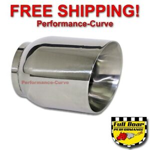 Stainless Steel Exhaust Tip Double Wall Angle 3 Inlet 4 Outlet 5 Long