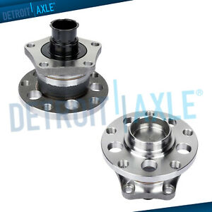 2 New Rear Complete Wheel Hub And Bearing Assembly For Audi A6 Passat W Abs