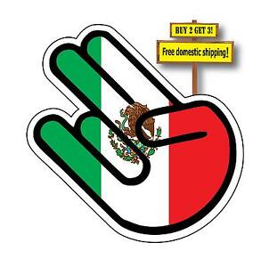 Jdm Shocker With Mexican Flag Wakaba Leaf Funny Decal Sticker P659