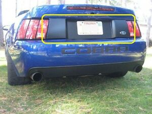 Trunk Black Out Panel Decals Bm Complete 99 04 Mustang Cobra Saleen 0010203