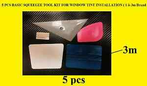 5 Pcs Basic Squeegee Tool Kit For Window Tint Installation 1 Is 3m Brand