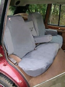 Land Rover Discovery 2 1998 2004 Rear Seat Waterproof Seat Covers Set Grey