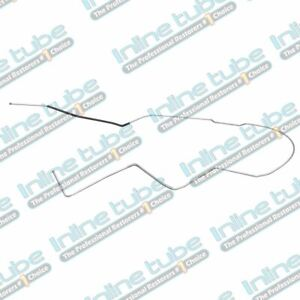 64 65 66 67 Chevelle Hardtop Main Fuel Line 3 8 Ns Front To Rear Stainless Steel