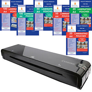 Cathedral Home Office A3 A4 A5 Laminator Laminating Machine Pouches Roller