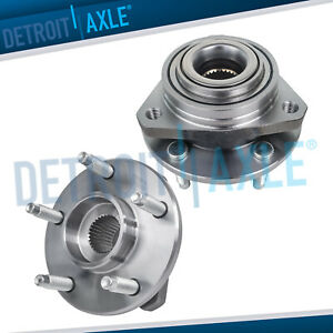 Pair Front Wheel Hub And Bearing Assembly W O Abs 04 07 Chevy Malibu Pontiac G6