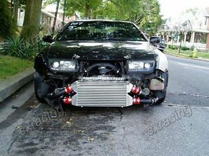 Cx Bolt On Fm Intercooler Kit Black Pipes For 90 96 Nissan 300zx Z32 Twin Turbo