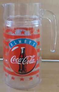 VHTF COLLECTIBLE COCA COLA GLASS PITCHER